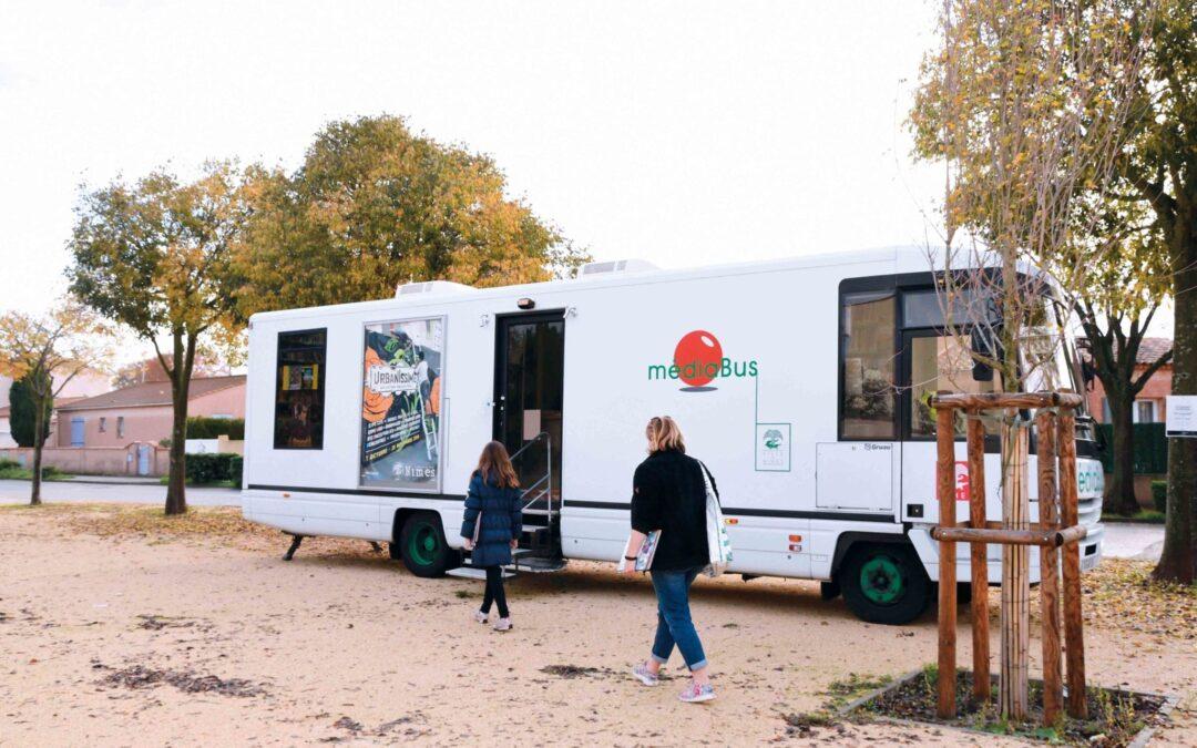 Un « book truck » au Mas de Ville