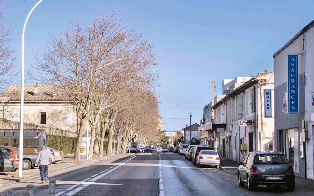 La route d'Avignon et ses abords