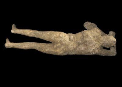 Moulage d'une victime de Pompéi