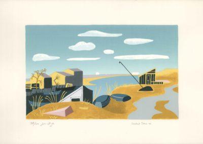 Jean Hugo, Cabannes d'Azémard (Lithographie - Collection particulière)