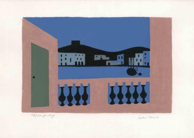 Jean Hugo, Cadaquès la nuit (Lithographie - Collection particulière)