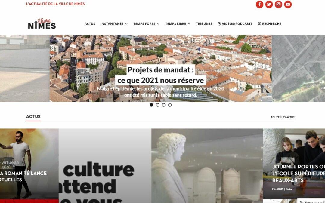 Vivre Nîmes en ligne évolue et devient une plateforme d'information