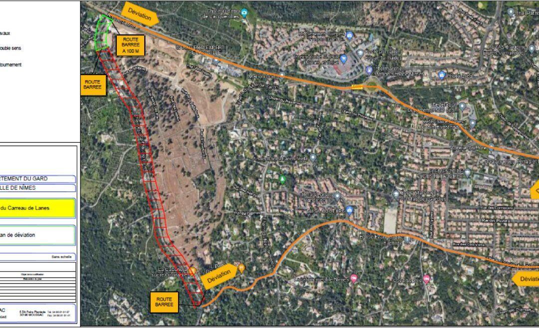Le chemin du Carreau de Lanes fermé les 20 et 21 septembre