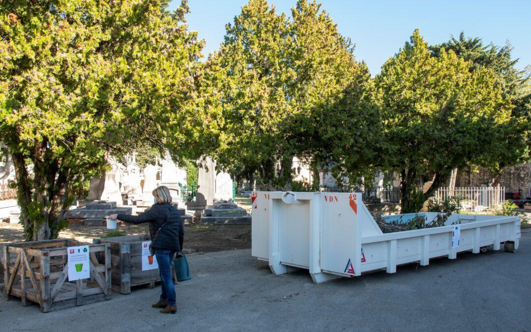 Une gestion plus écologique des déchets verts issus des cimetières